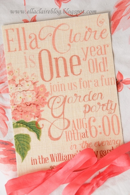 linen fabric invitation printing tutorial and a few answers to questions