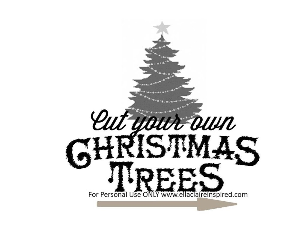 Free Christmas Tree Sign Template {Tutorial}  Free Christmas Tree Templates