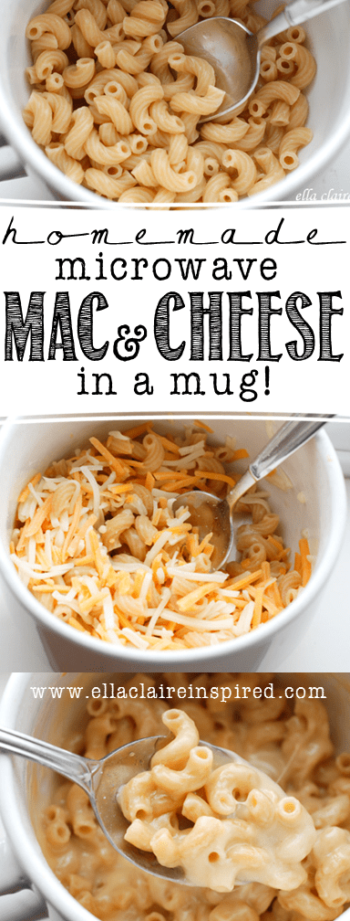 Homemade Single Serve Microwave Macaroni And Cheese In A