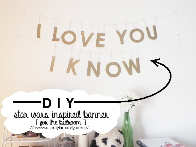 DIY: Star Wars Inspired Banner [for the bedroom] | allonsykimberly.com