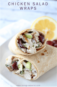 LoveGrowsWild.com | The perfect classic chicken salad recipe! A great go-to meal for Summer! #recipe #salad #chicken