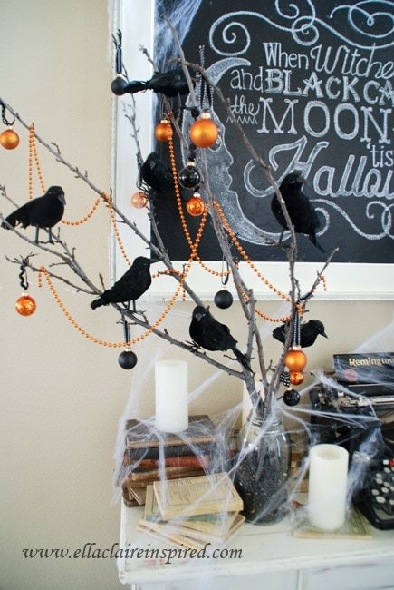 free halloween chalkboard template and fun vignette - Good Halloween Font