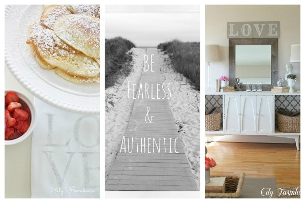 City Farmhouse Blizzard Pancakes, Be Autrhentic, Love Sign The Inspiration Exchange #33
