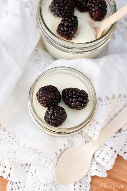 Vanilla Bean Panna Cotta With Lemon