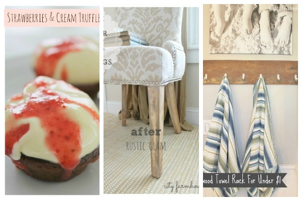 The Inspiration Exchange Linky Party 32- Valentines Day Desserts, Easy Fix for Tjose Dark Chair Legs & Reclaimed Wood Towel Rack for Under A Buck-City Farmhouse
