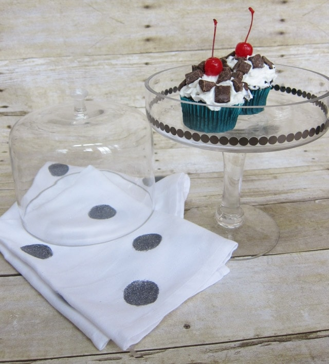 Decoupaged Cupcake Stand and Napkins-17