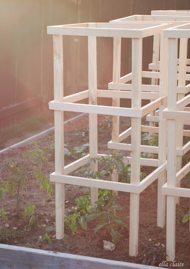 Wooden tomato cages diy
