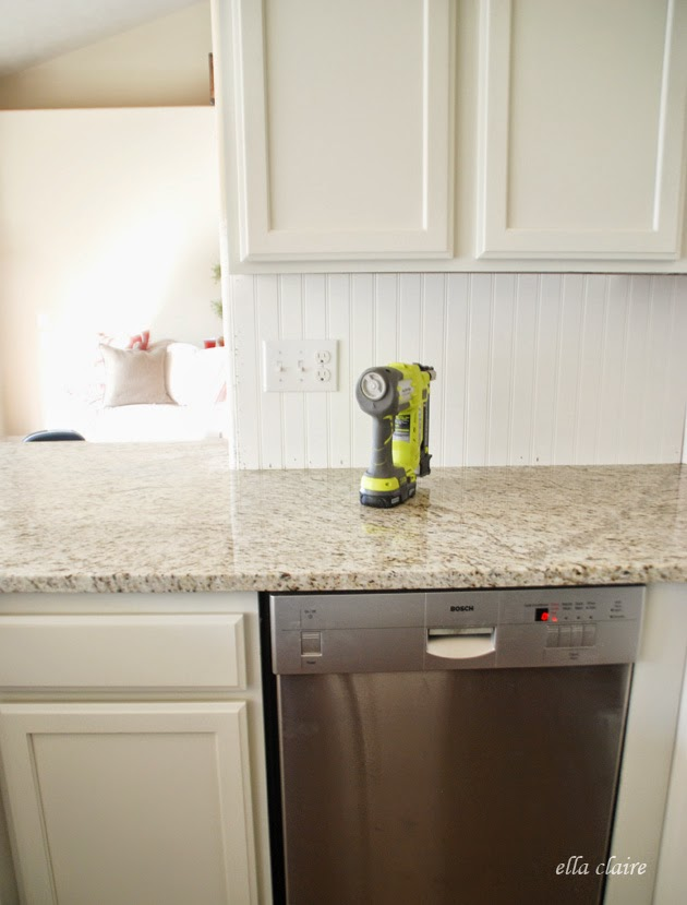 Lovely Beadboard Backsplash Ideas Part - 14: First, I Headed To The Home Depot To Grab My Beadboard. I Had Them Cut It  To Size For Me, So I Went Already Knowing My Measurements. I Recommend This  Step, ...