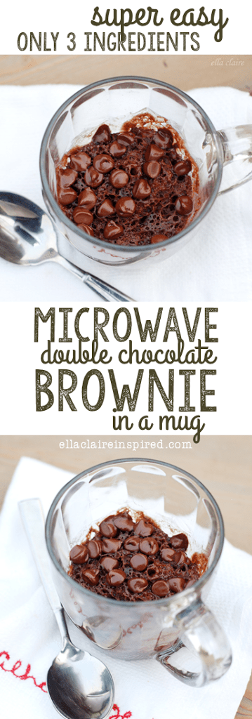 This Single Serve Double Chocolate Brownie Is So Quick And Easy That It Makes The Perfect Recipe To Tuck Away For Those Emergency Situations Where You Need