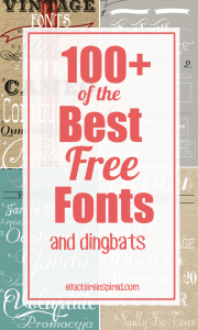 100+ of the Best Free Font Downloads gathered from around the web. These are FABULOUS.