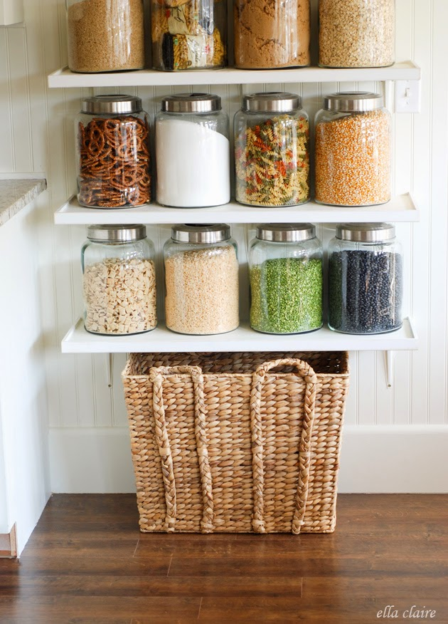 Diy Country Store Kitchen Shelves More Pantry Space
